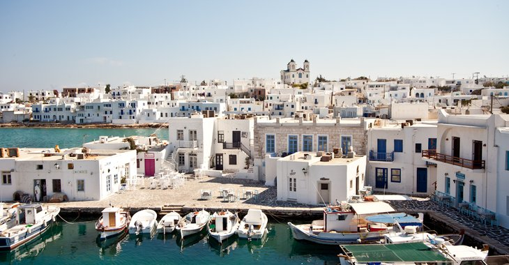 Naoussa paros greece history beaches watersports greek islands